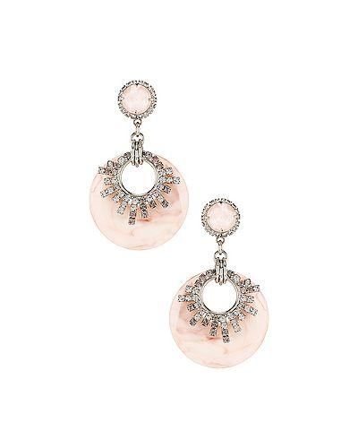Серьги-гвоздики серьги-кольца серебряные Elizabeth Cole
