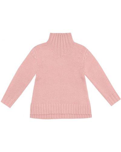 Кашемировый розовый свитер Bonpoint