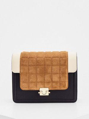 Кожаная сумка через плечо - черная By Malene Birger