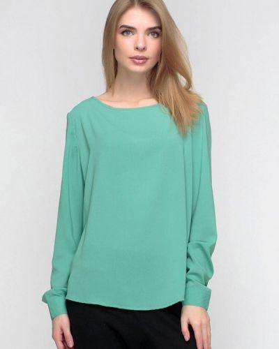 Блузка с длинным рукавом зеленый весенний F'91