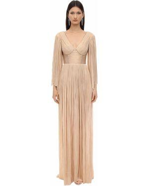 Платье макси длинное - розовое Maria Lucia Hohan
