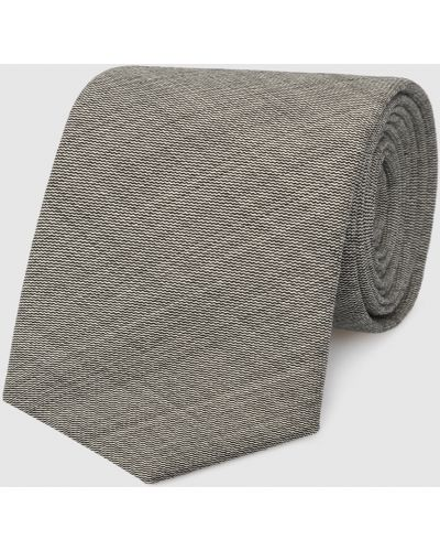 Серый шерстяной галстук Max Mara