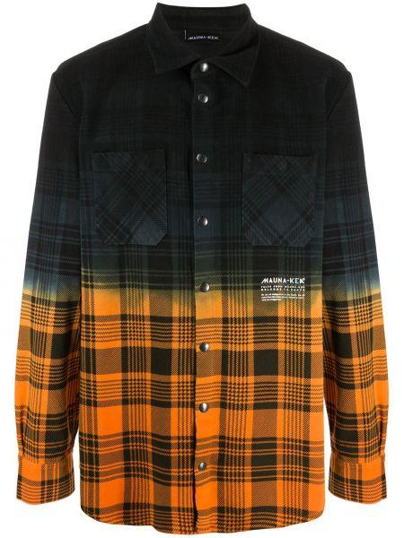 Черная рубашка с воротником с манжетами на кнопках Mauna Kea