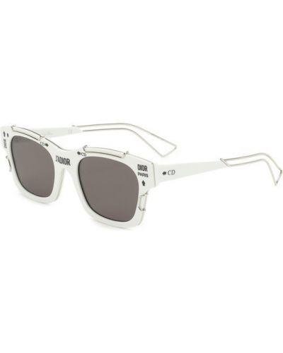 Белые солнцезащитные очки Dior