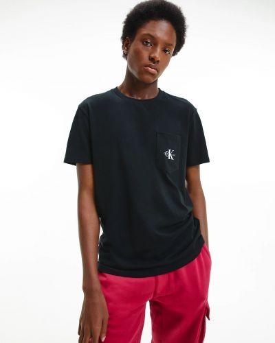 Футболка с карманами - черная Calvin Klein Jeans
