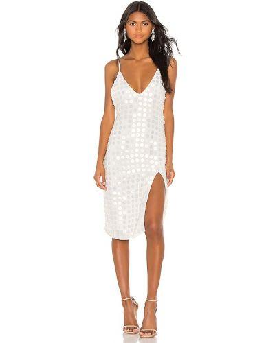 Кружевное белое платье миди на бретелях X By Nbd