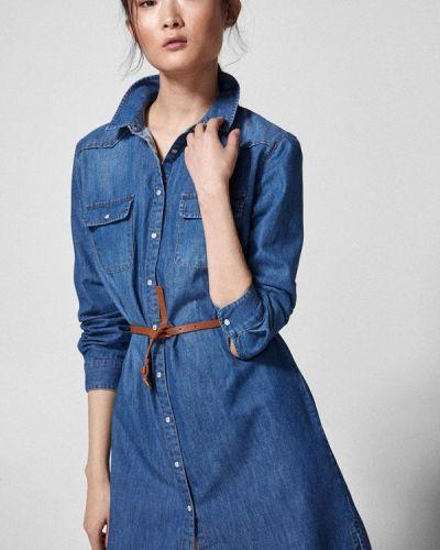 Джинсовое платье - голубое Springfield