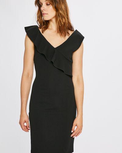 Платье мини однотонное с V-образным вырезом Morgan