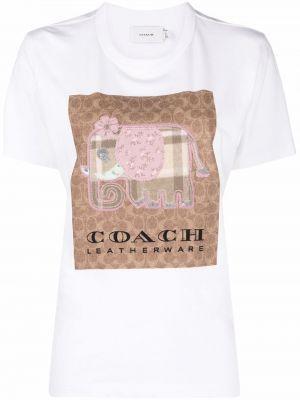 Лонгслив с принтом - белая Coach