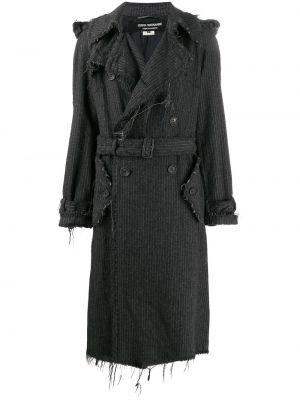 Серое шерстяное пальто классическое двубортное Junya Watanabe Comme Des Garçons Pre-owned