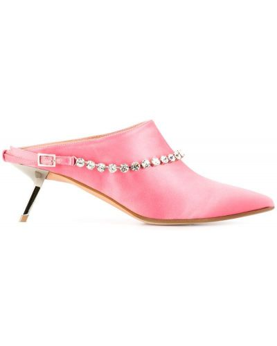Розовые мюли на каблуке Alchimia Di Ballin