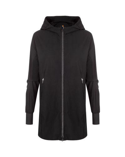 Приталенная черная длинная куртка на молнии Icepeak