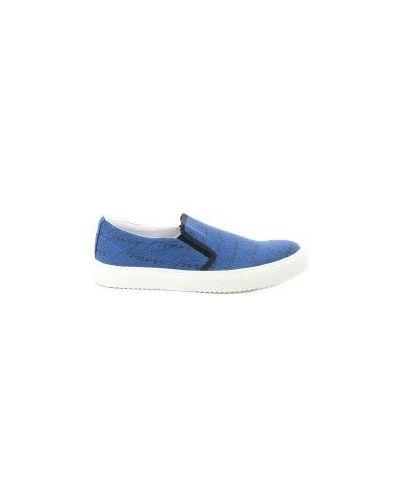 Голубые слипоны джинсовые Armani Jeans