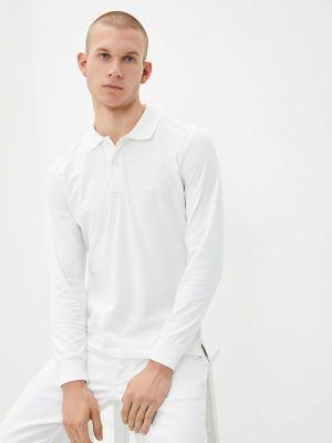 Белый поло с длинными рукавами Giorgio Di Mare