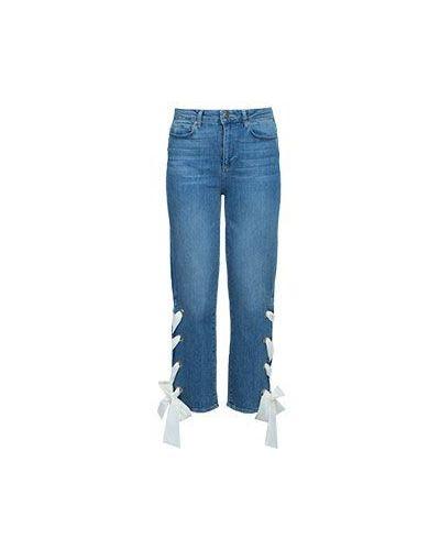 Прямые джинсы расклешенные Paige