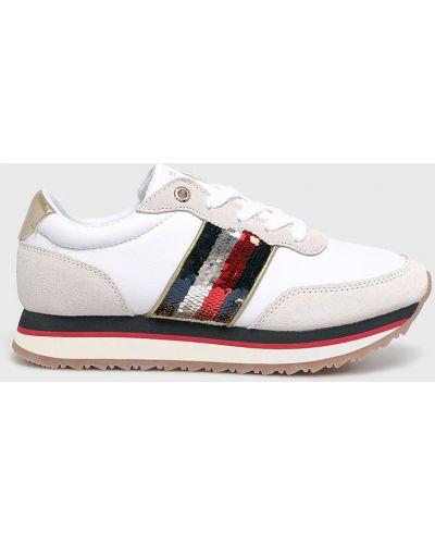 Кроссовки на платформе замшевые текстильные Tommy Hilfiger