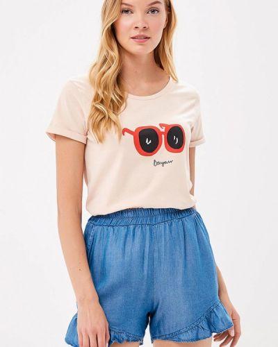 Бежевая футболка Ichi