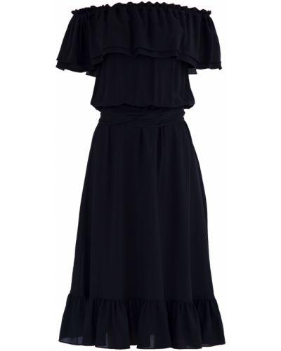 Платье с поясом платье-солнце с оборками Michael Kors