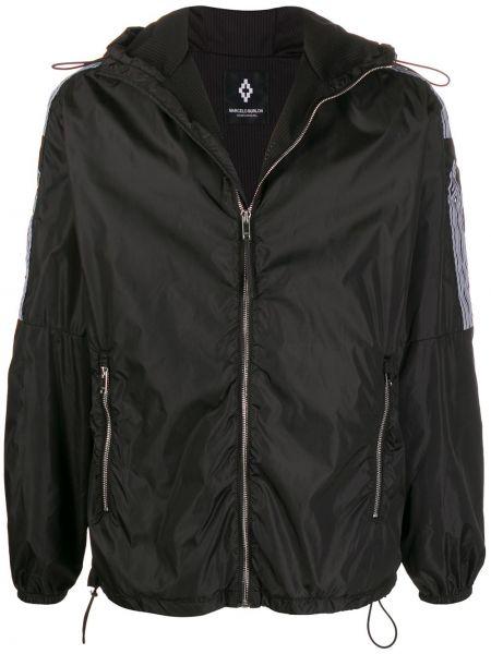 Czarna kurtka z kapturem z długimi rękawami Marcelo Burlon County Of Milan