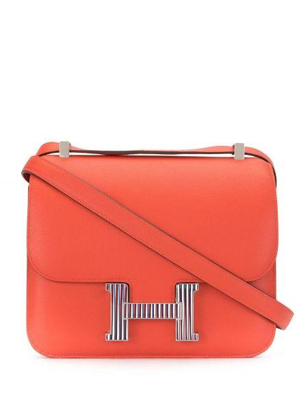 Сумка на плечо на молнии оранжевый Hermès