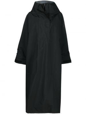 Черное пончо с капюшоном с манжетами Y-3