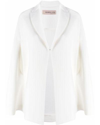 Biała narzutka z wiskozy Blanca Vita