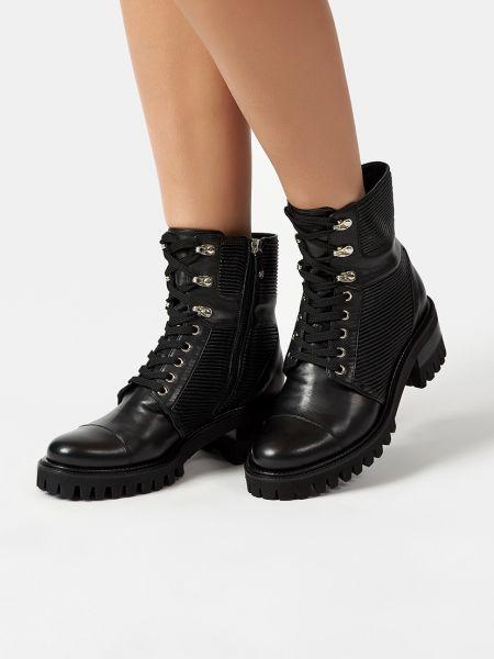 Кожаные ботинки - черные Ballin