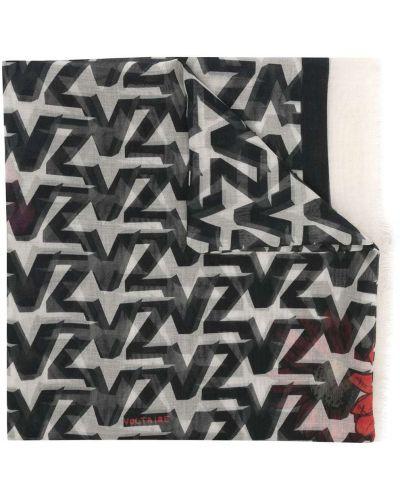 Biały szalik bawełniany Zadig&voltaire