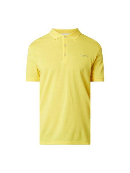 T-shirt bawełniana - żółta Baldessarini