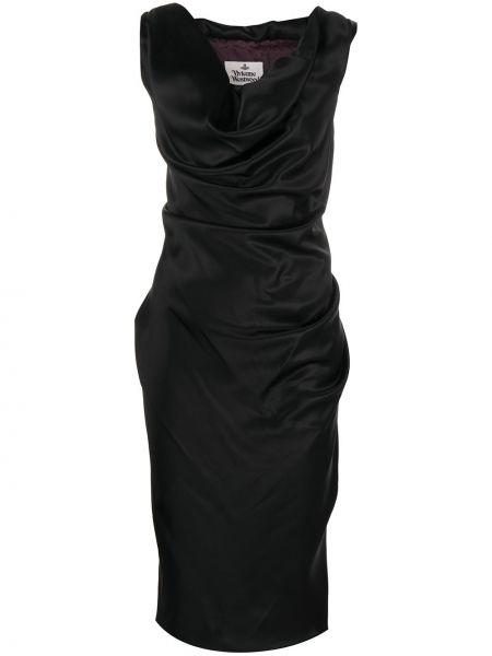Черное платье миди без рукавов Vivienne Westwood