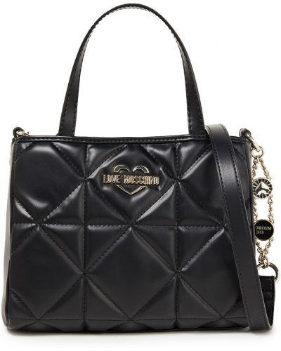 Złota torebka na łańcuszku - czarna Love Moschino