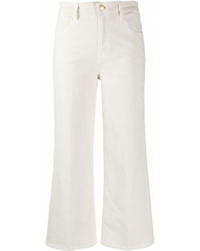 Широкие джинсы белые на пуговицах J Brand
