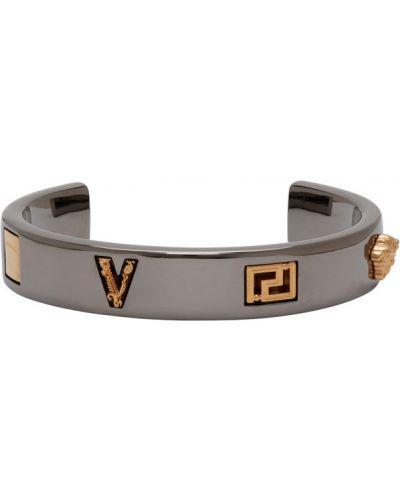 Srebro otwarty bransoletka Versace