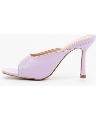 Фиолетовые кожаные сабо Go-go