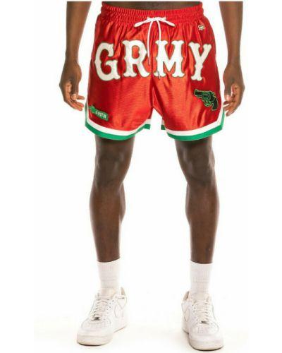 Czerwone szorty do biegania Grimey