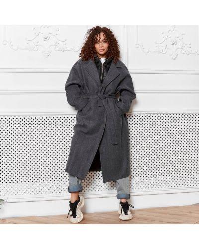Пальто оверсайз - серое без бренда