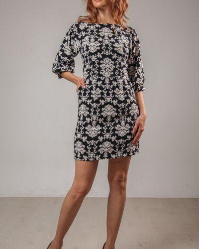 Расклешенное приталенное платье на молнии с карманами Lila Classic Style