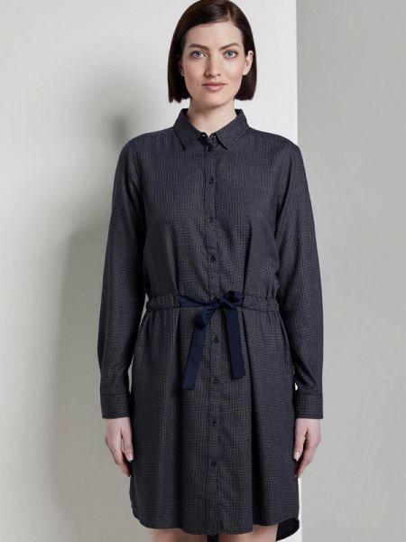 Джинсовое платье - синее Tom Tailor Denim