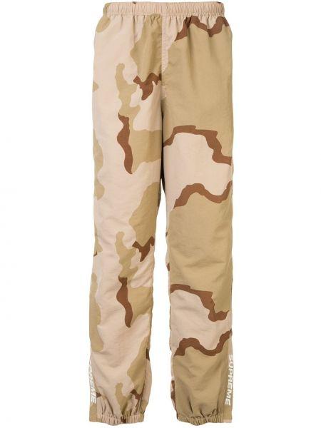 Spodni ciepły nylon brązowy majtki Supreme
