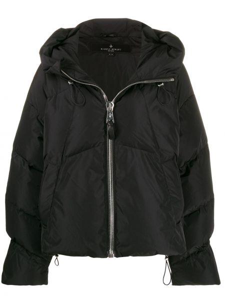 Куртка с капюшоном черная длинная Nicole Benisti