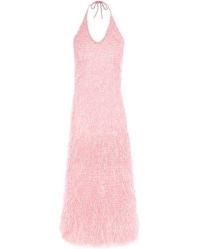 51c0ab814c6 Платье миди розовый с открытой спиной Rodarte