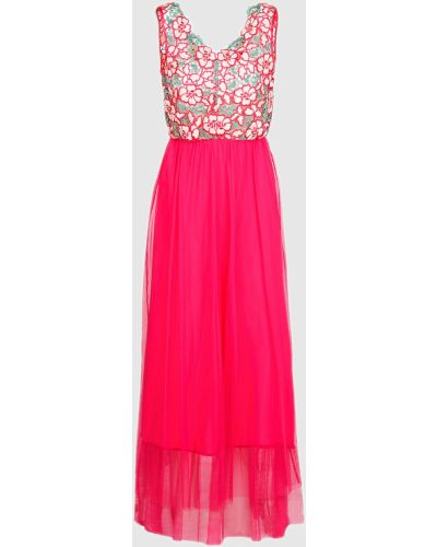 Розовое кружевное платье макси Tresophie