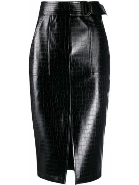 Czarna spódnica ołówkowa skórzana Liu Jo