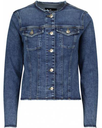 Синяя хлопковая куртка 7 For All Mankind