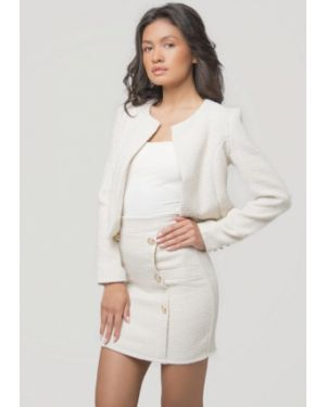 Белый вязаный юбочный костюм Lipinskaya Brand