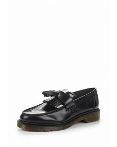 Черные кожаные лоферы Dr Martens