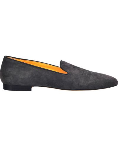 Кожаные туфли - серые Billionaire