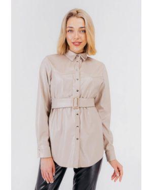 Блузка с длинным рукавом бежевый весенний Bessa