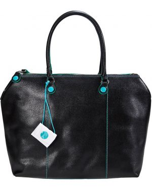 Кожаная сумка - черная Gabs