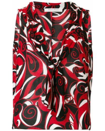 Черная блузка без рукавов винтажная без рукавов Miu Miu Pre-owned